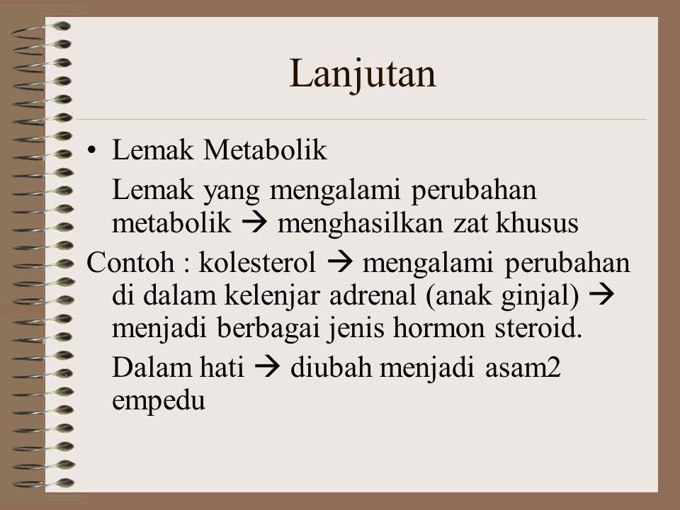 Lanjutan Lemak Metabolik