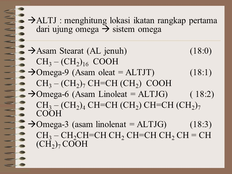 ALTJ : menghitung lokasi ikatan rangkap pertama dari ujung omega  sistem omega