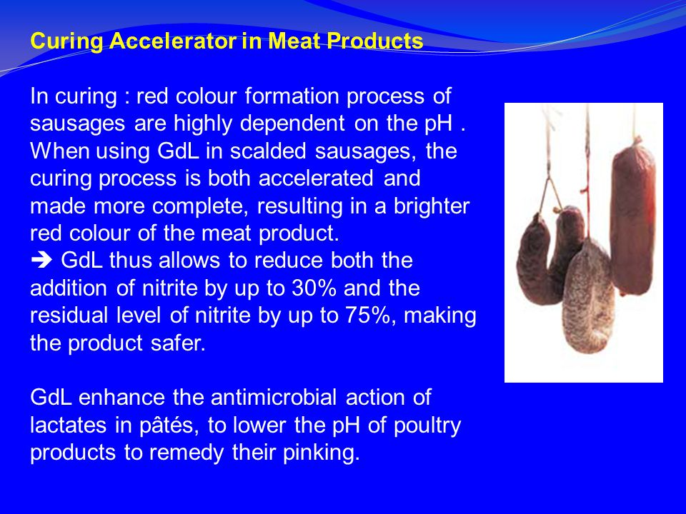 Curing Accelerator in Meat Products