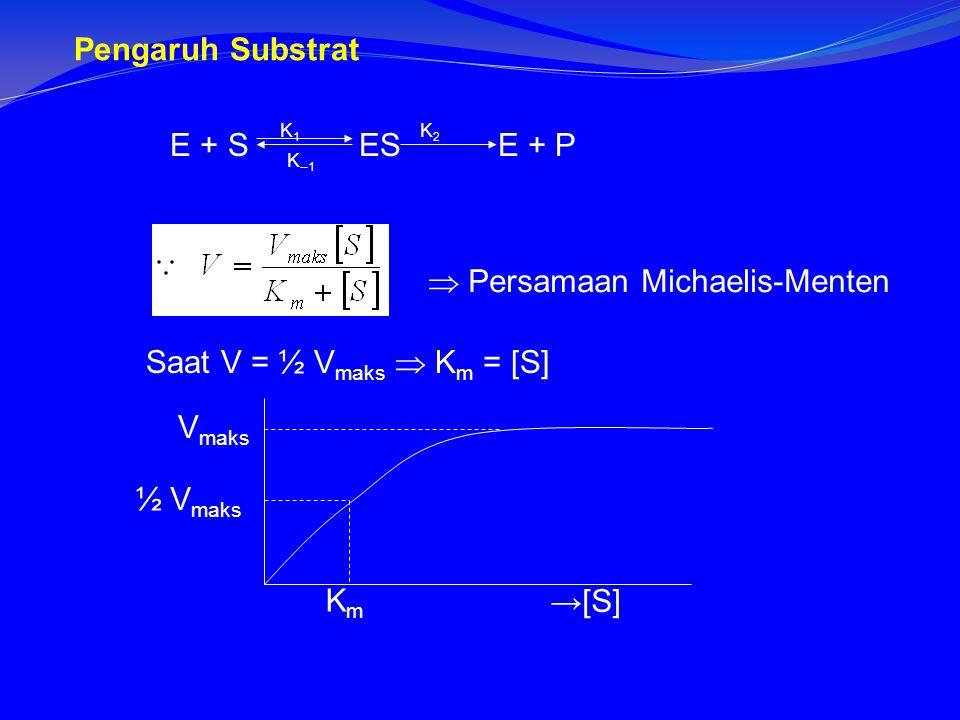  Persamaan Michaelis-Menten