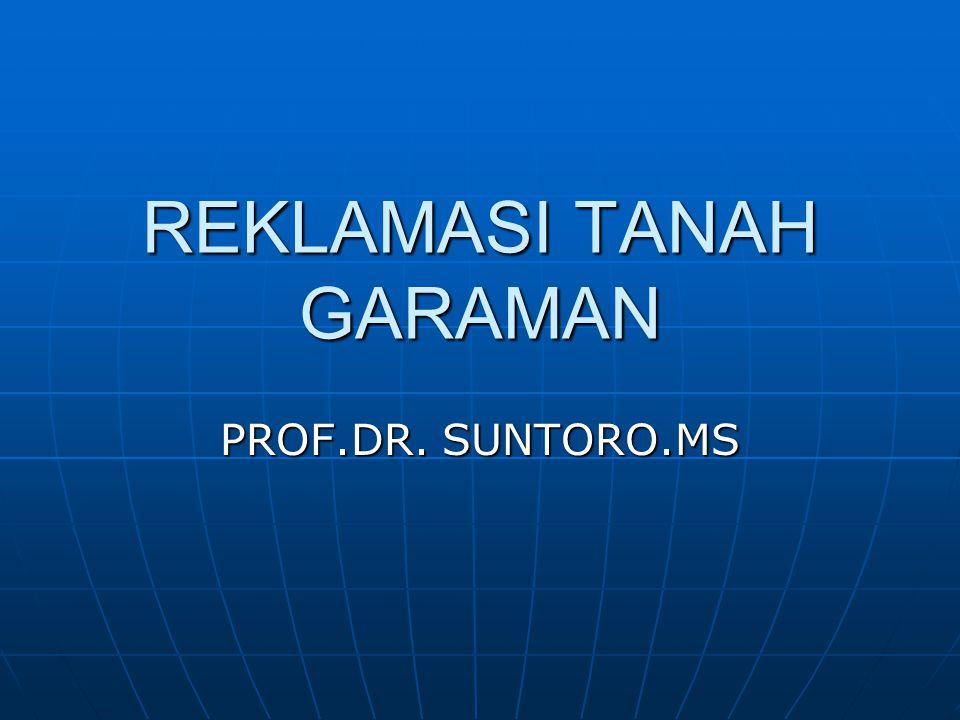 REKLAMASI TANAH GARAMAN