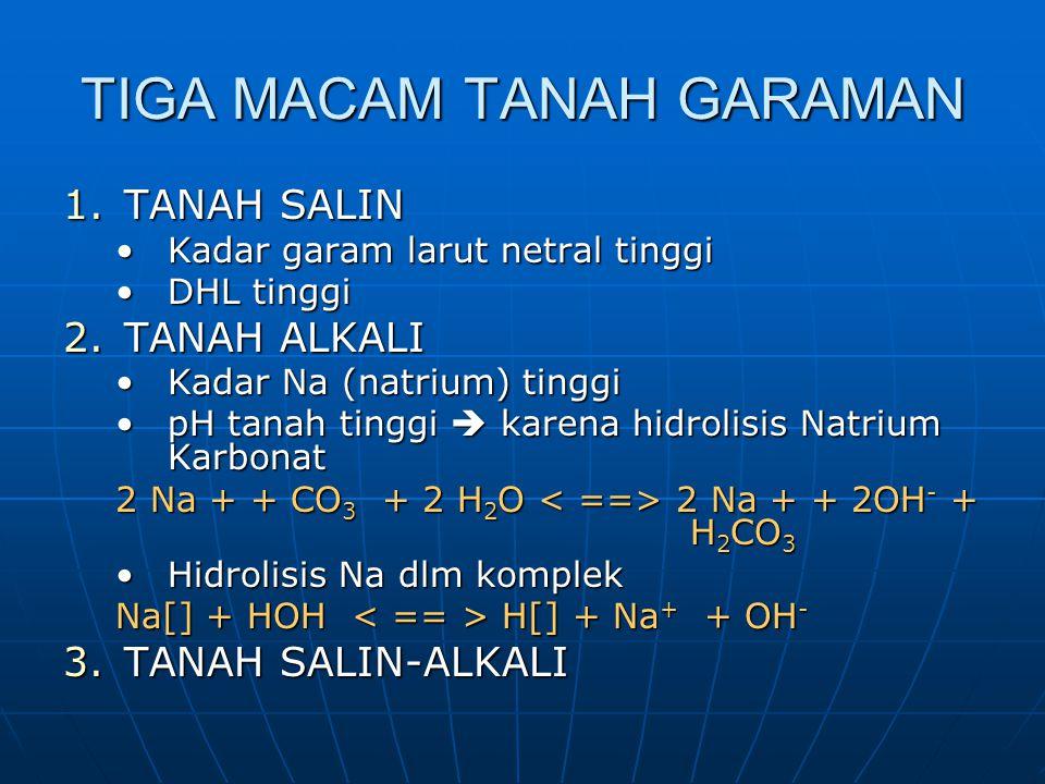 TIGA MACAM TANAH GARAMAN