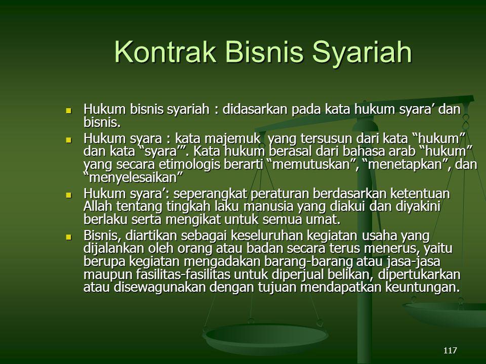 Kontrak Bisnis Syariah