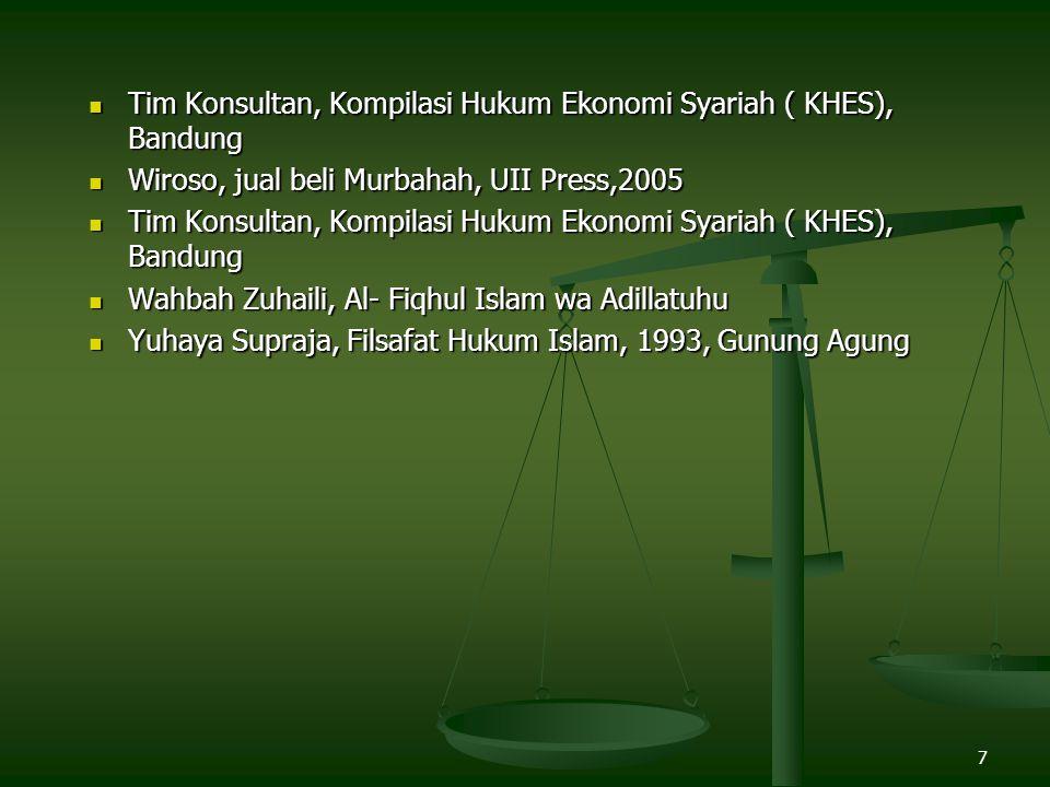 Tim Konsultan, Kompilasi Hukum Ekonomi Syariah ( KHES), Bandung