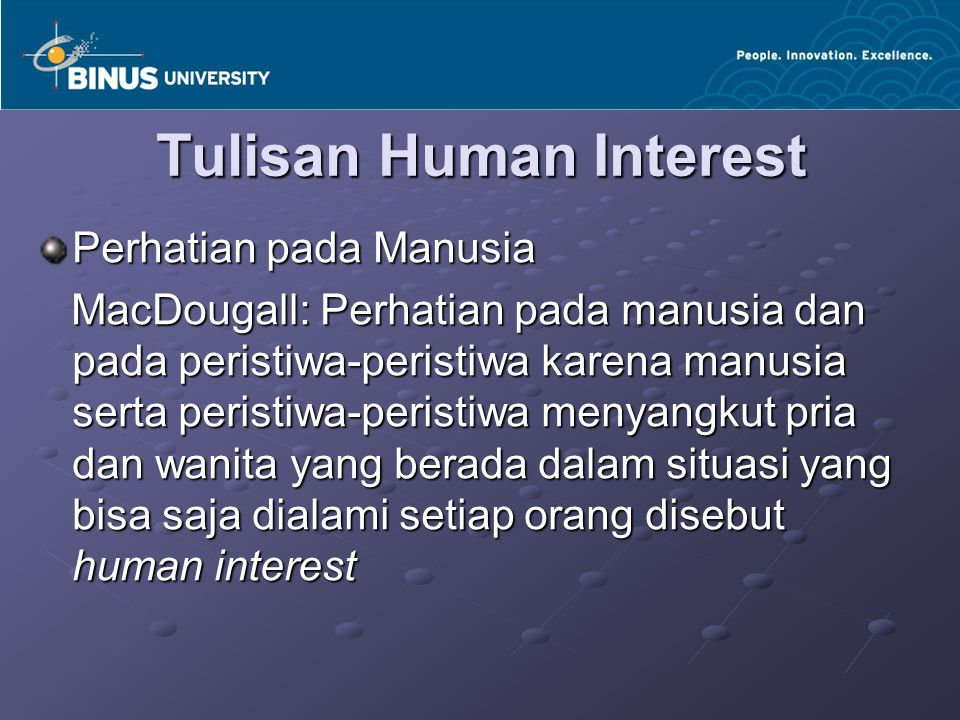Tulisan Human Interest