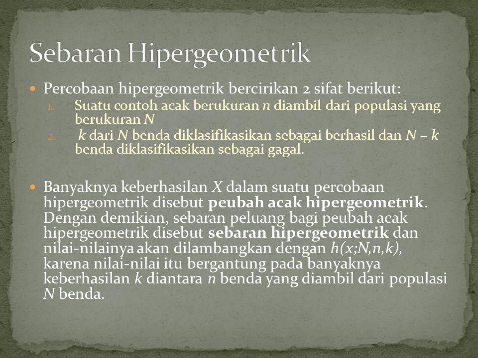 Sebaran Hipergeometrik