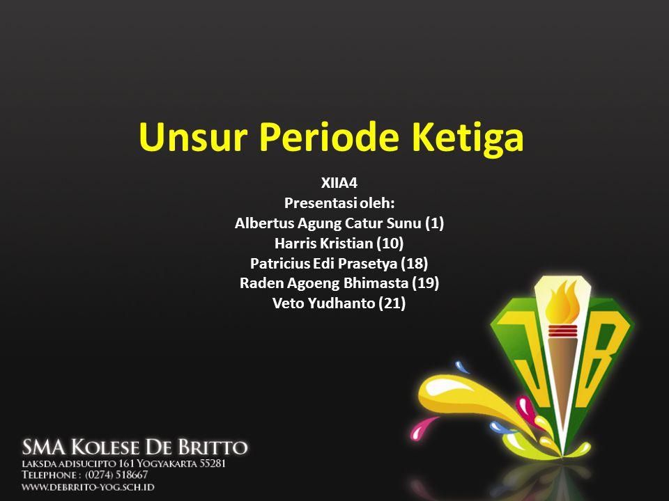 Unsur Periode Ketiga XIIA4 Presentasi oleh: