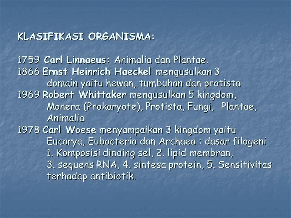 KLASIFIKASI ORGANISMA: 1759 Carl Linnaeus: Animalia dan Plantae