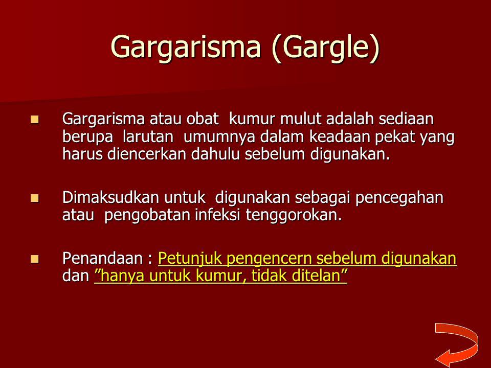 Gargarisma (Gargle)