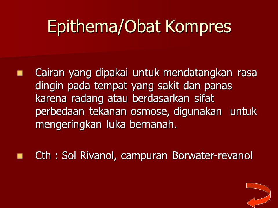Epithema/Obat Kompres