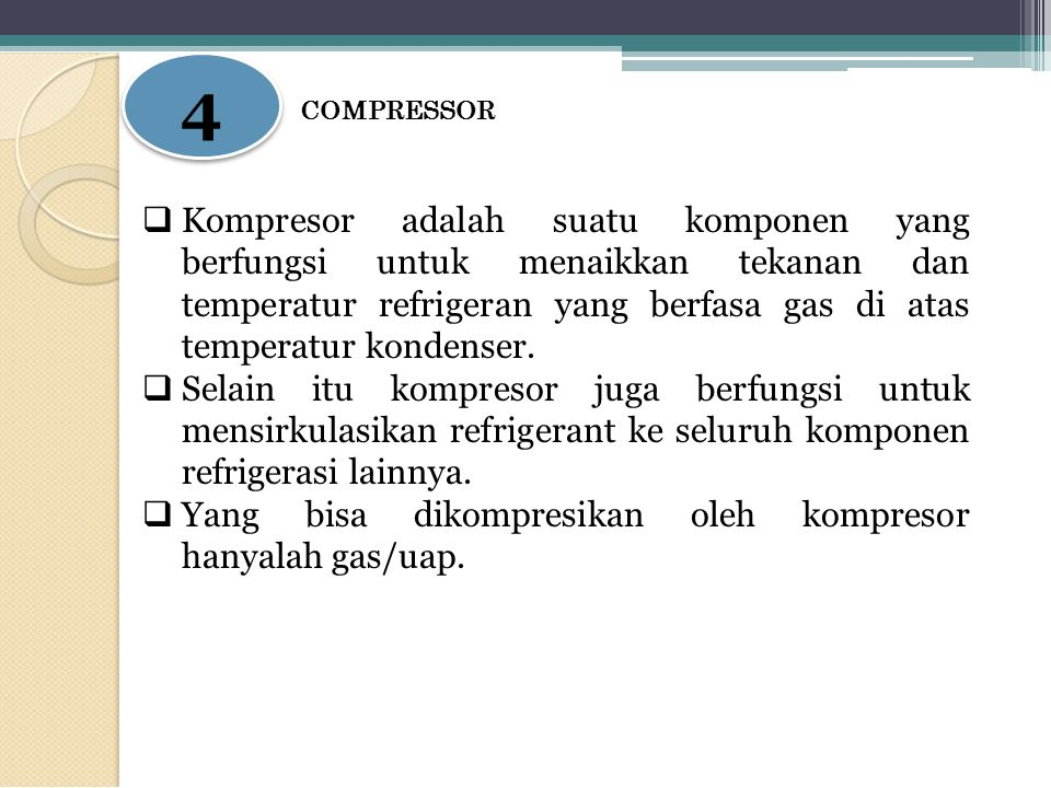 4 COMPRESSOR.