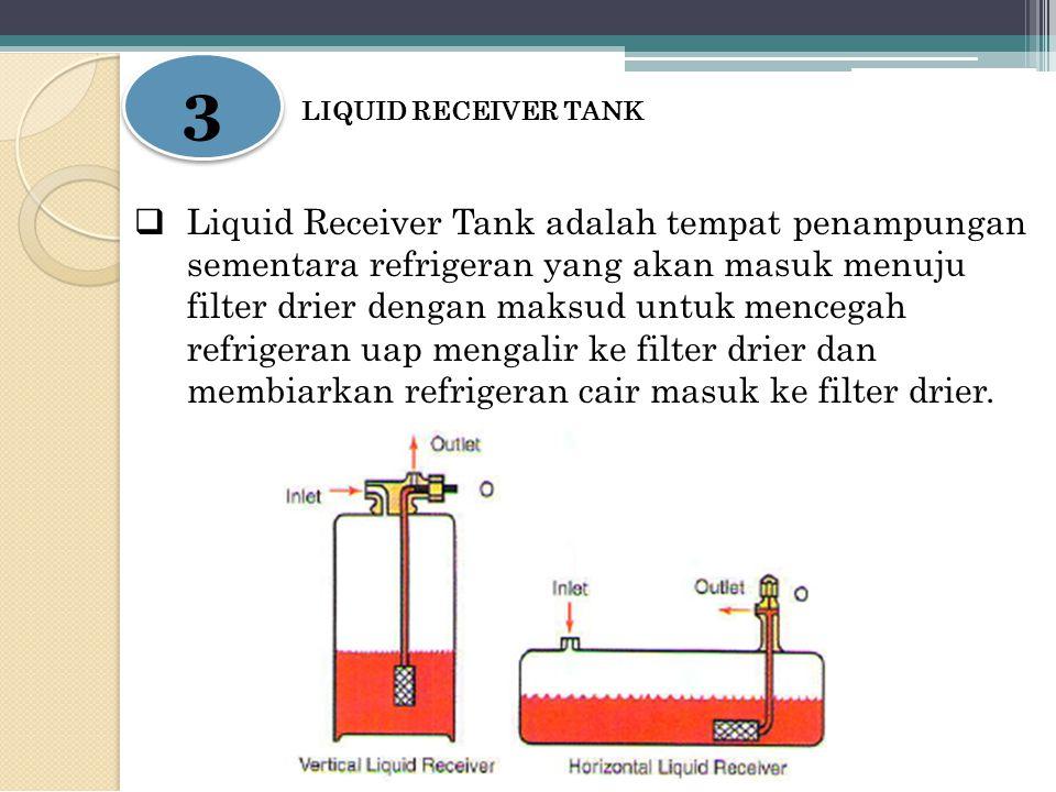 3 LIQUID RECEIVER TANK.