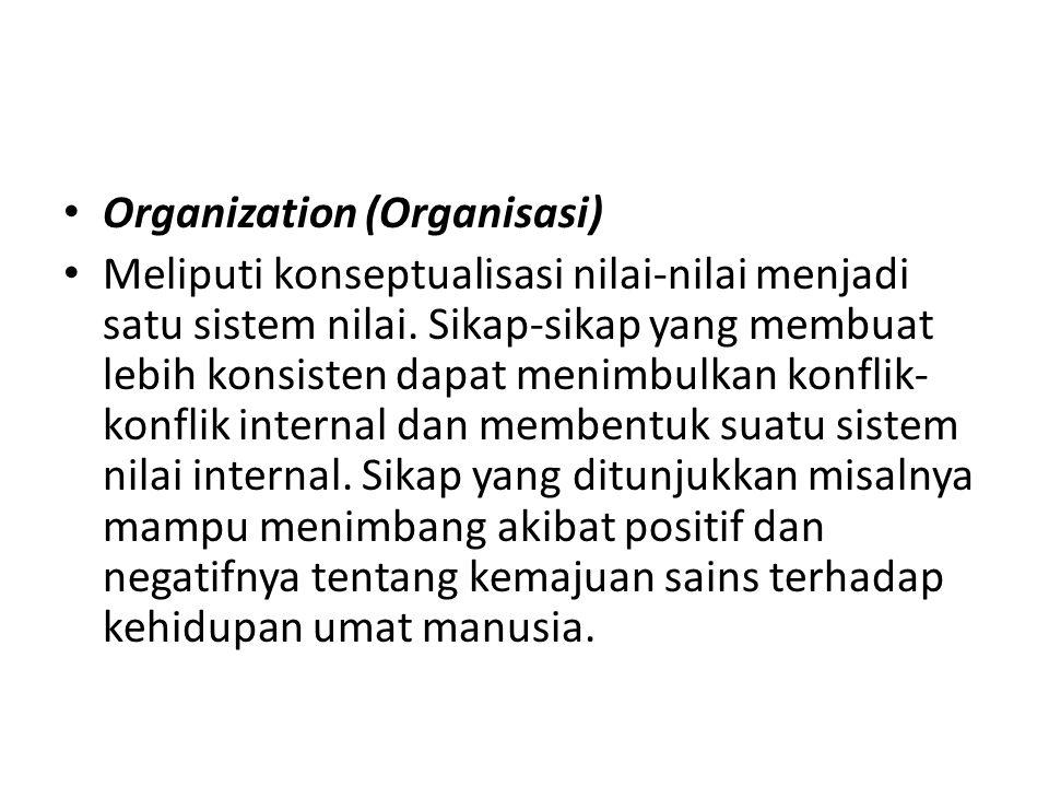 Organization (Organisasi)