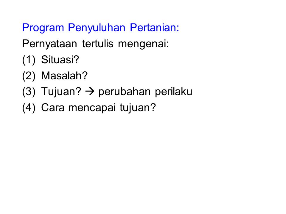 Program Penyuluhan Pertanian: