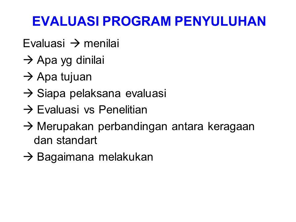 EVALUASI PROGRAM PENYULUHAN
