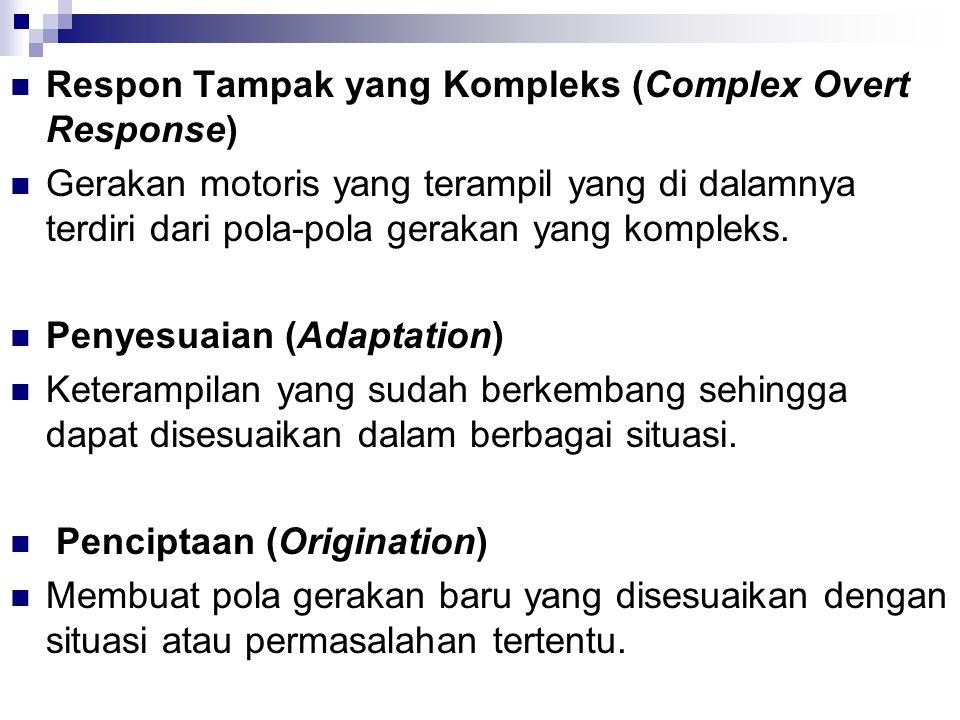 Respon Tampak yang Kompleks (Complex Overt Response)