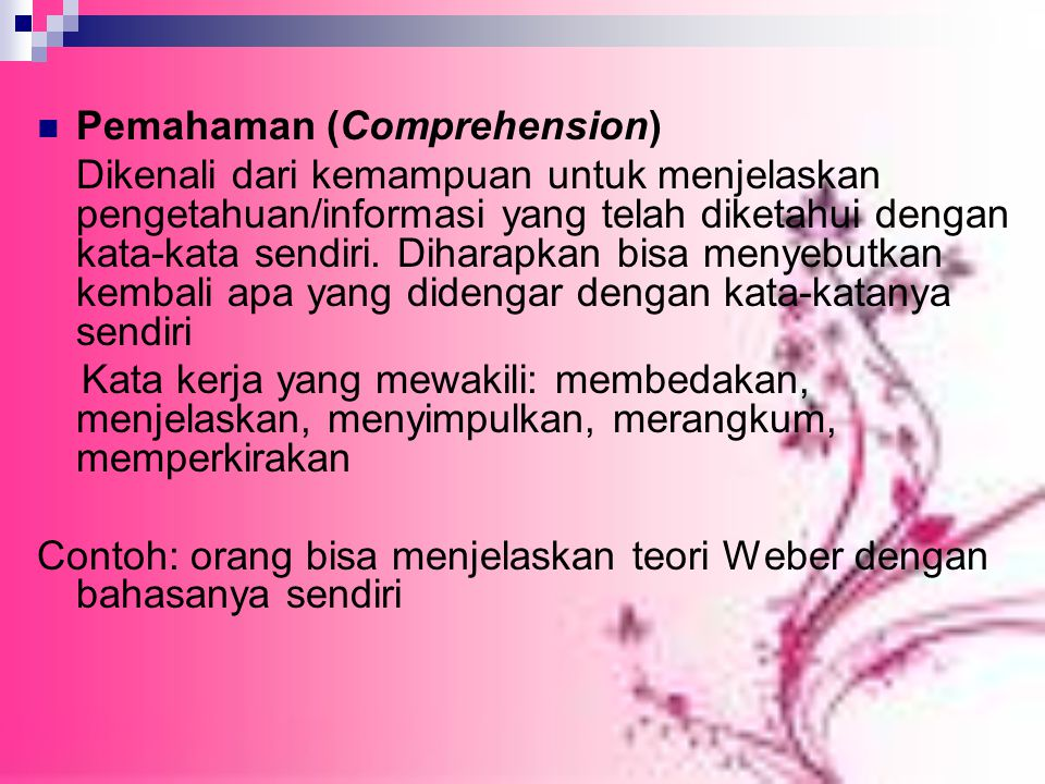 Pemahaman (Comprehension)