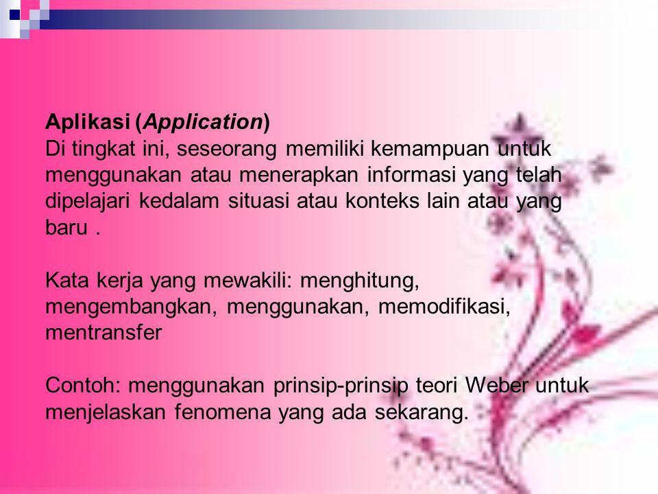 Aplikasi (Application)