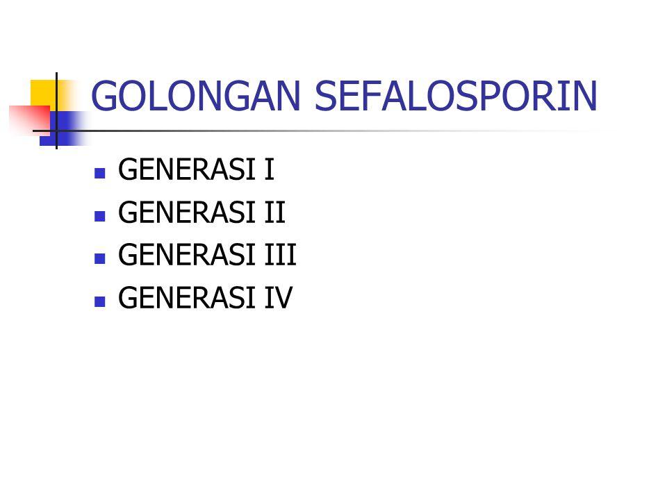 GOLONGAN SEFALOSPORIN