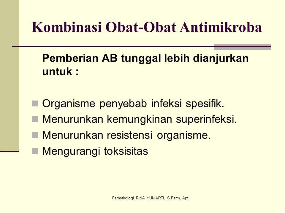 Kombinasi Obat-Obat Antimikroba