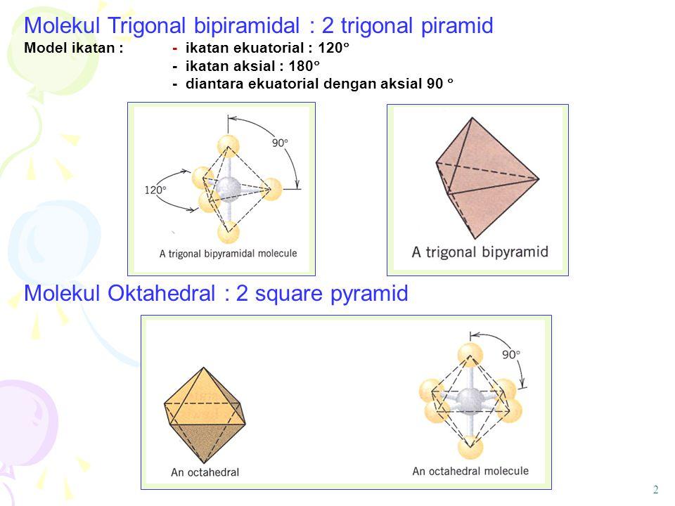 Molekul Trigonal bipiramidal : 2 trigonal piramid