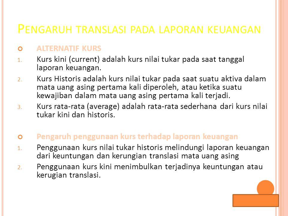 Pengaruh translasi pada laporan keuangan