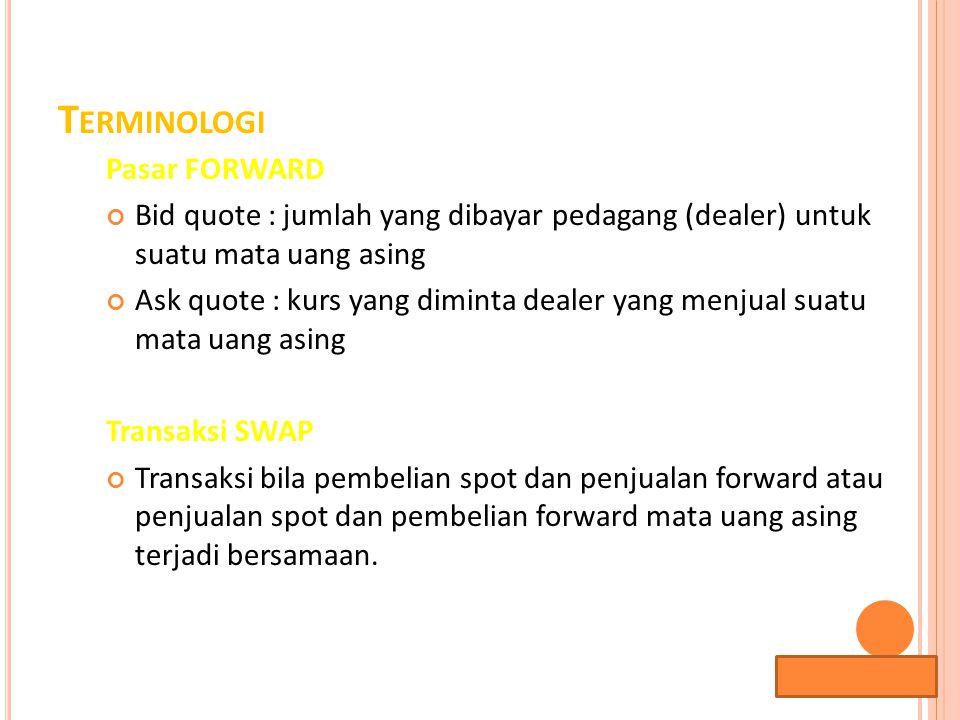 Terminologi Pasar FORWARD