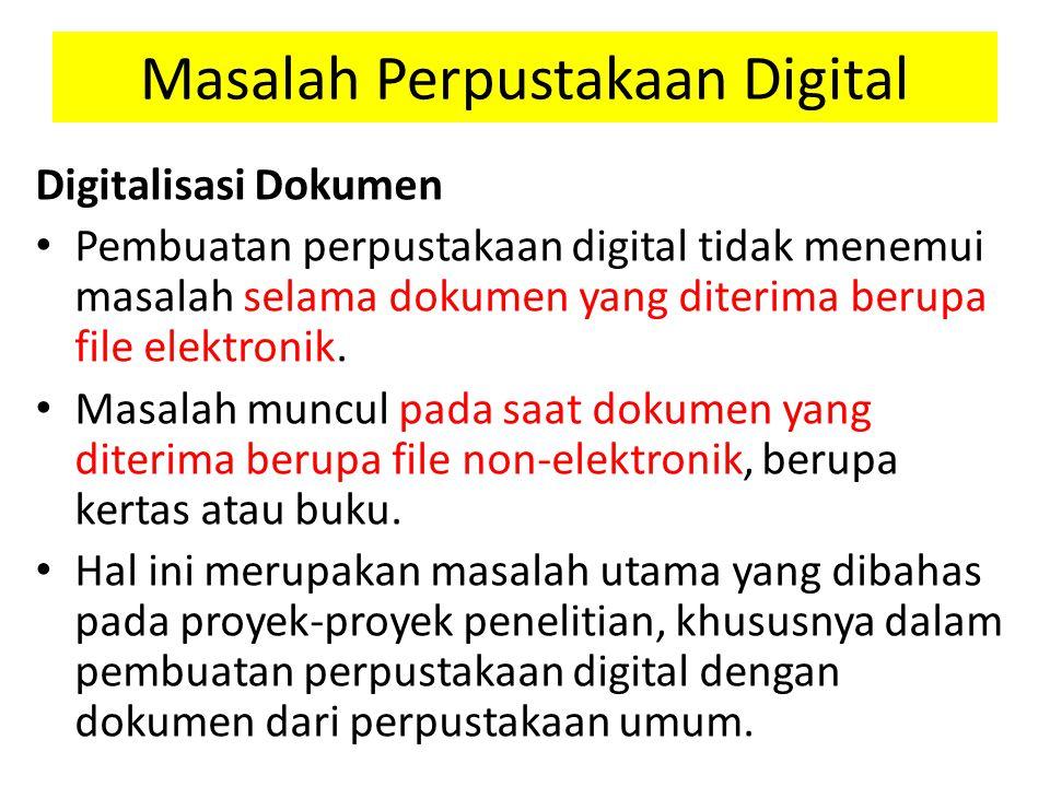 Masalah Perpustakaan Digital