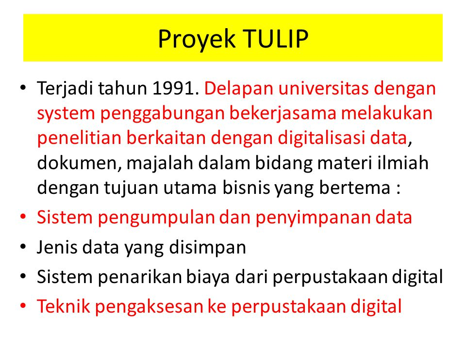 Proyek TULIP