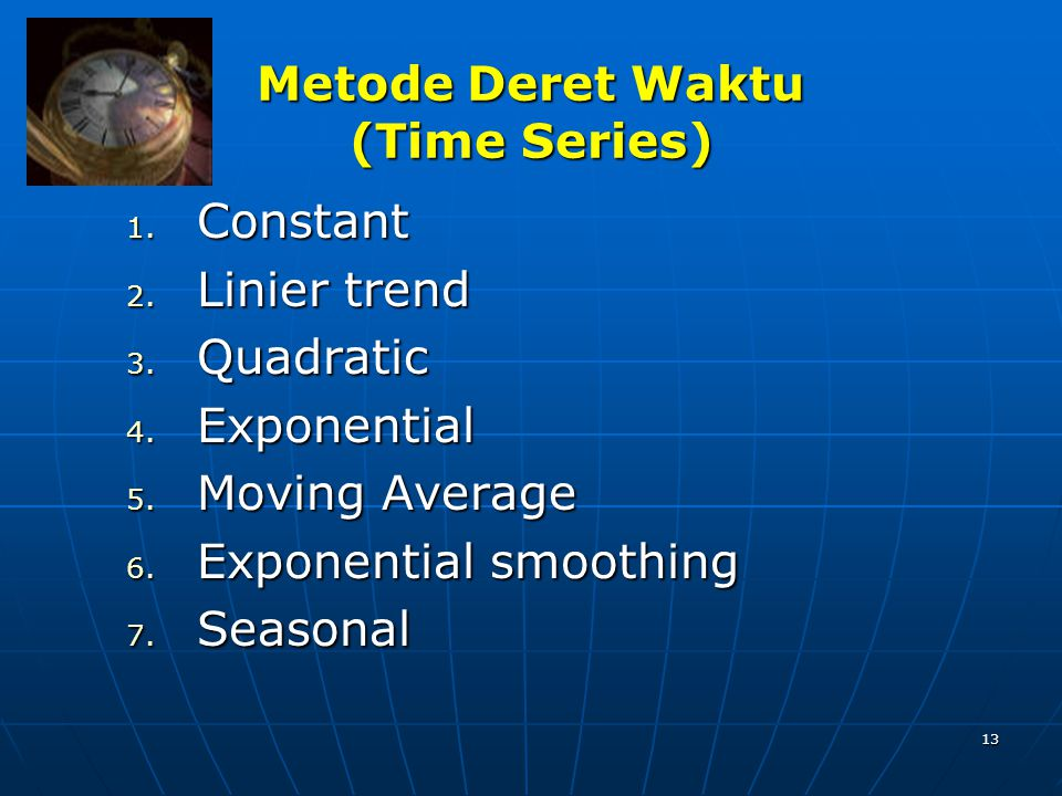 Metode Deret Waktu (Time Series)