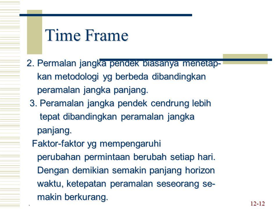 Time Frame 2. Permalan jangka pendek biasanya menetap-