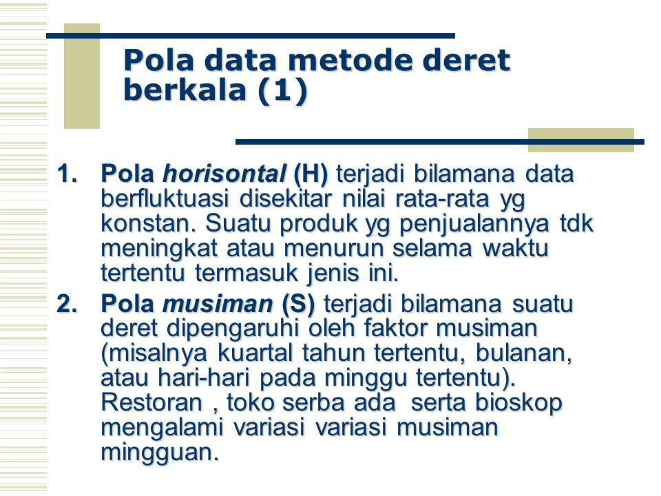 Pola data metode deret berkala (1)