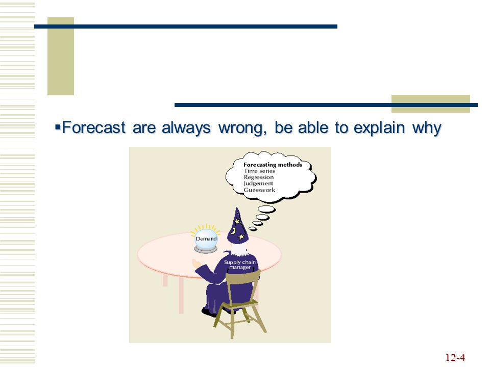 Forecast are always wrong, be able to explain why