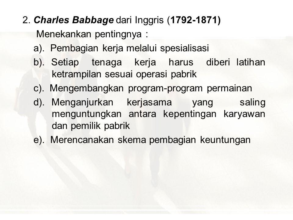 2. Charles Babbage dari Inggris (1792-1871)