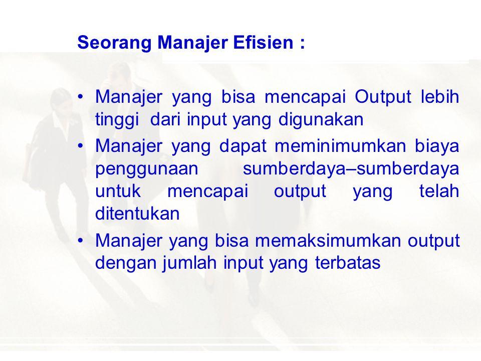 Seorang Manajer Efisien :