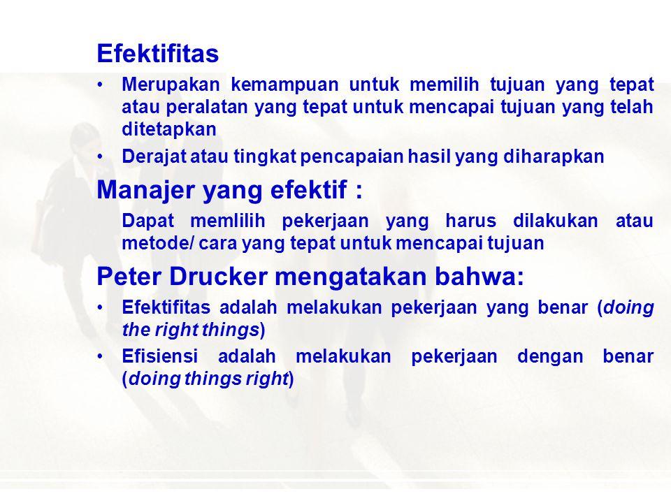 Peter Drucker mengatakan bahwa: