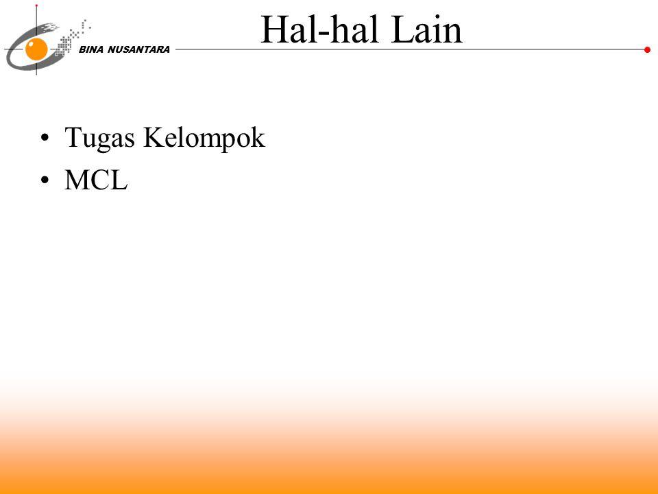 Hal-hal Lain Tugas Kelompok MCL