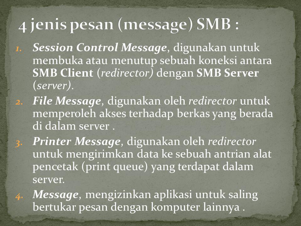 4 jenis pesan (message) SMB :