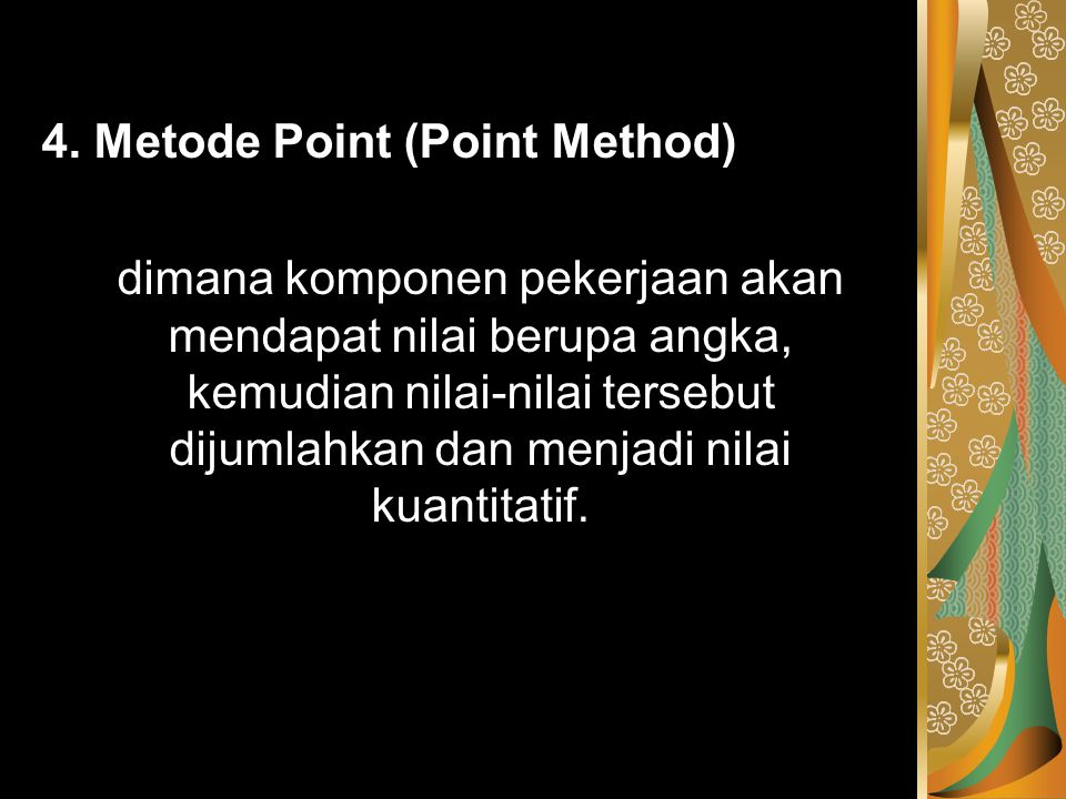 4. Metode Point (Point Method)