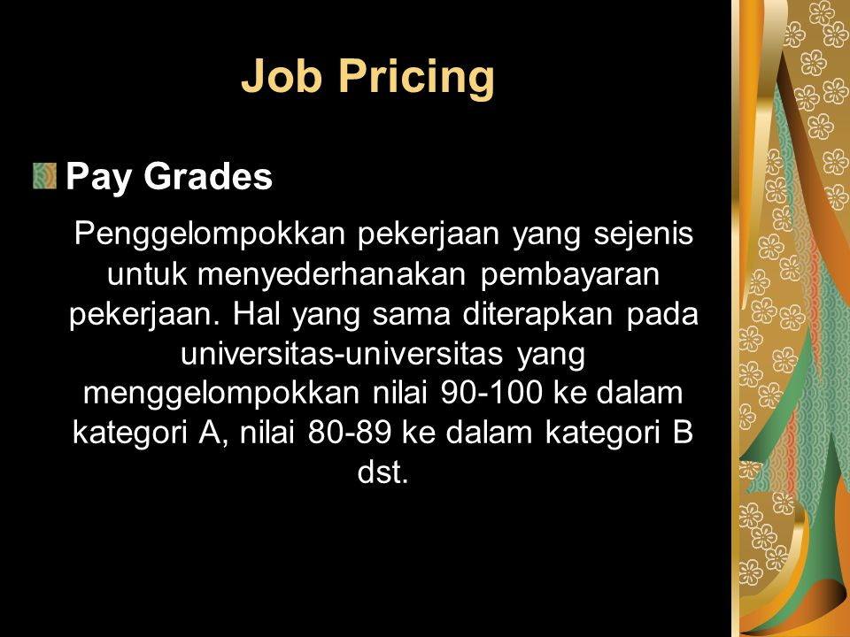 Job Pricing Pay Grades.