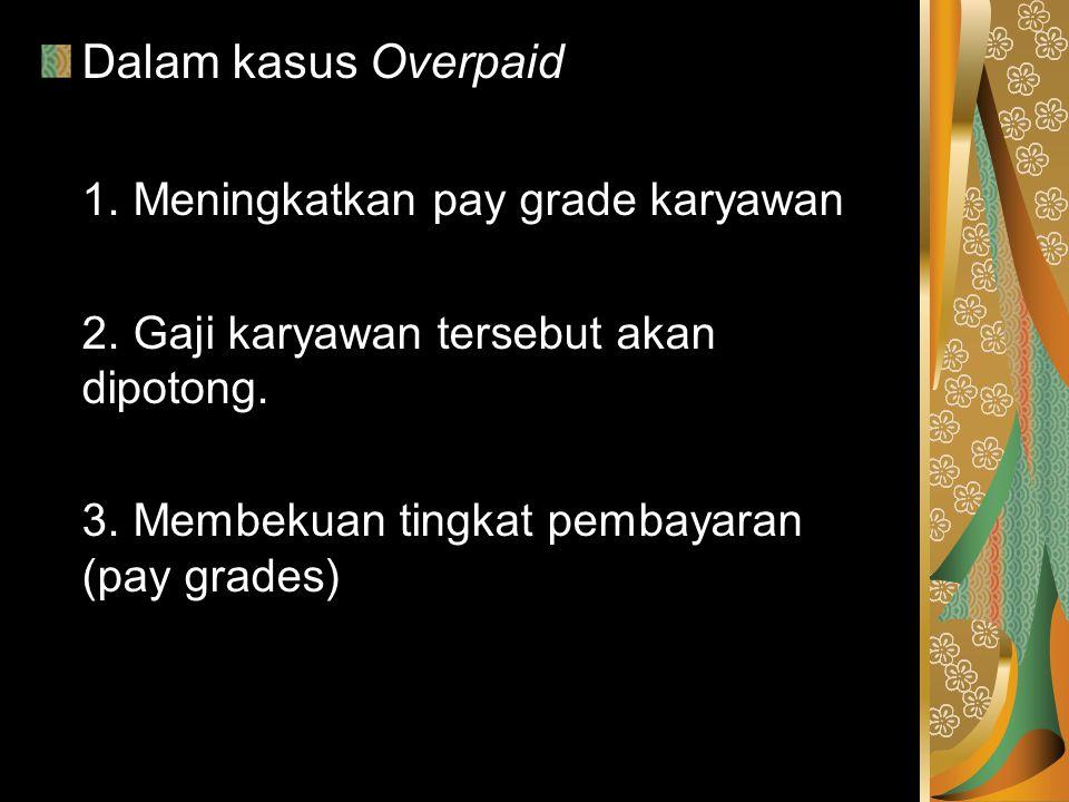 1. Meningkatkan pay grade karyawan