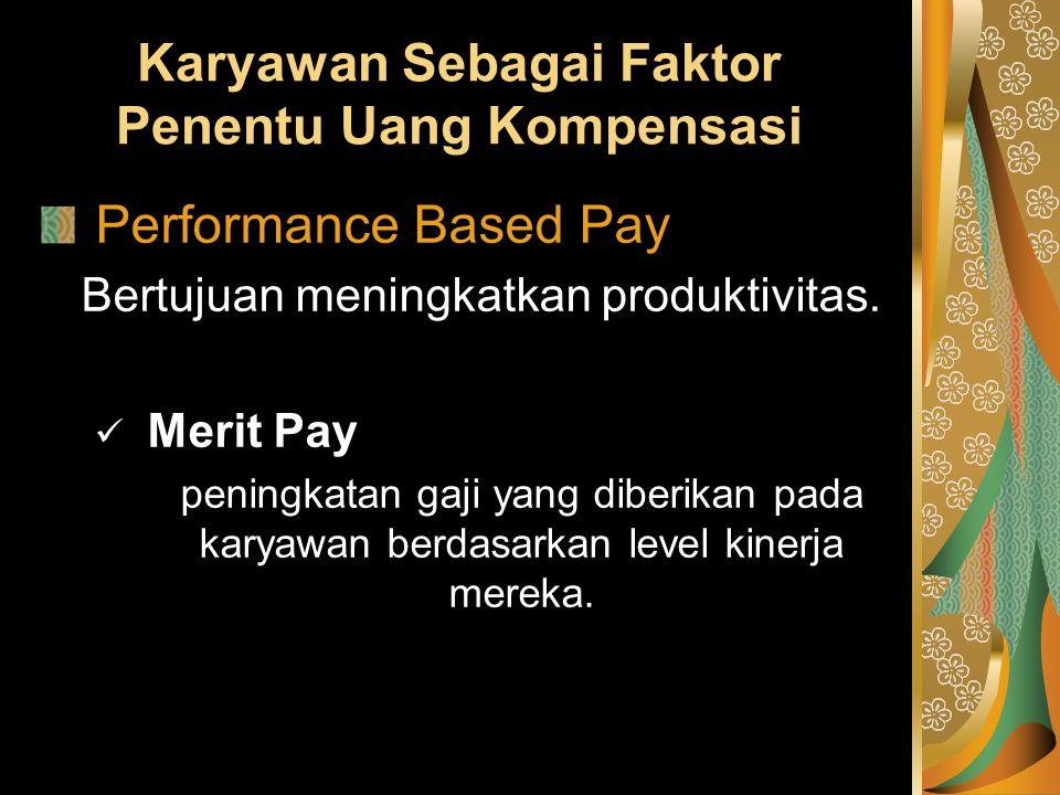 Karyawan Sebagai Faktor Penentu Uang Kompensasi