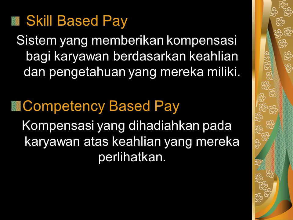 Competency Based Pay Skill Based Pay