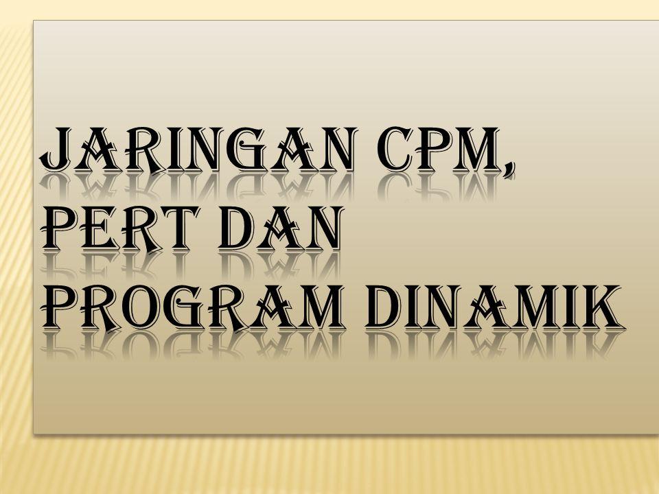 Jaringan CPM, PERT dan Program Dinamik