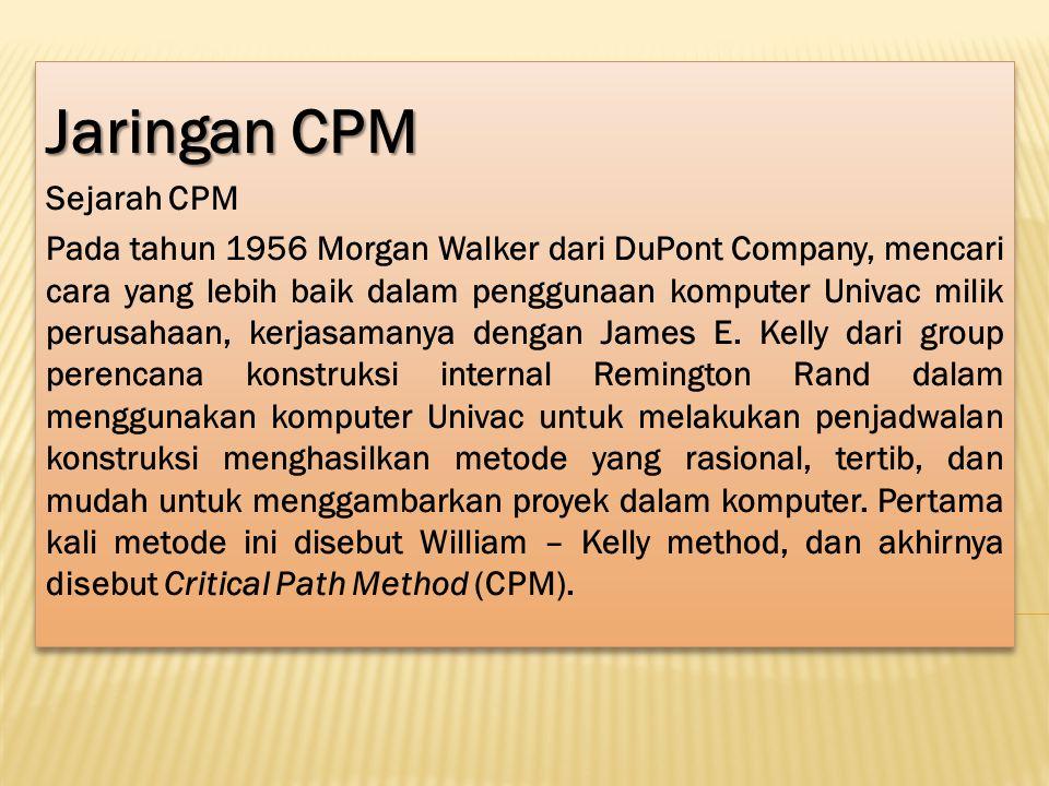 Jaringan CPM Sejarah CPM