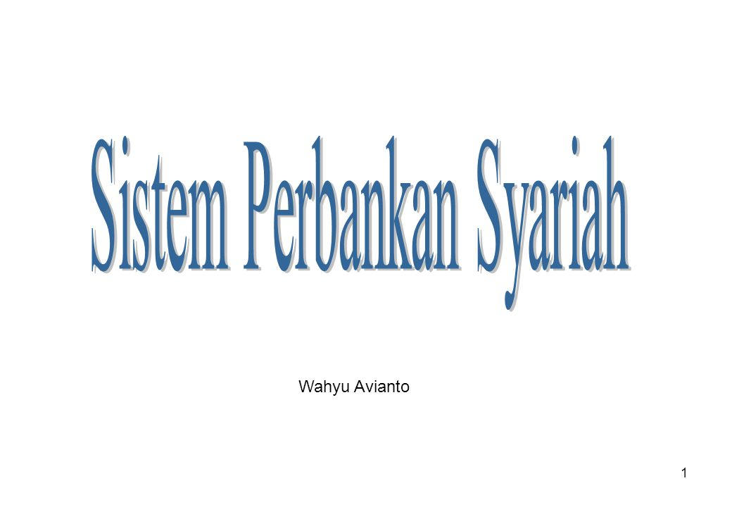 Sistem Perbankan Syariah