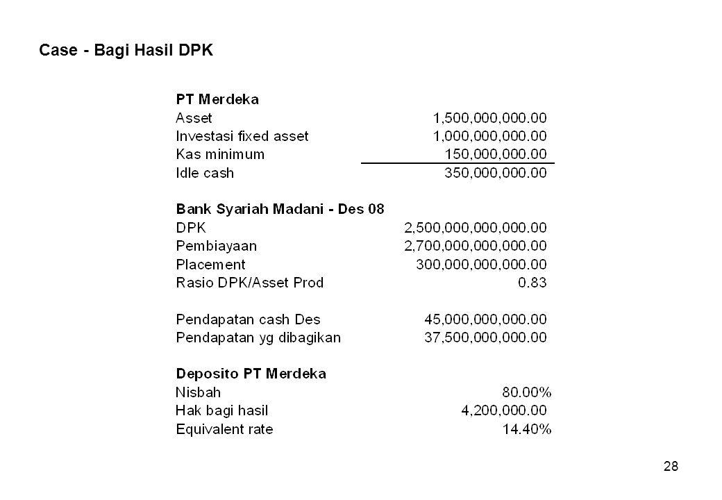 Case - Bagi Hasil DPK