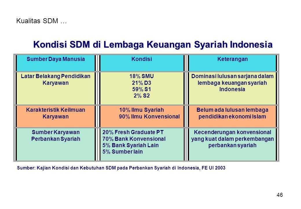 Kondisi SDM di Lembaga Keuangan Syariah Indonesia