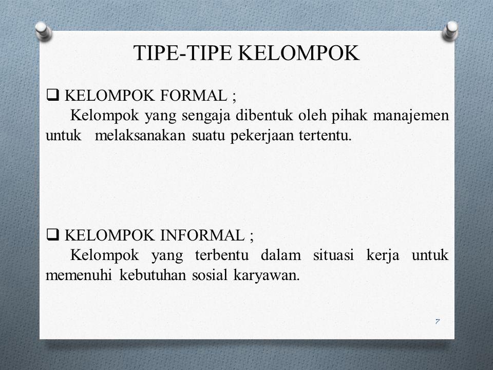 TIPE-TIPE KELOMPOK KELOMPOK FORMAL ;