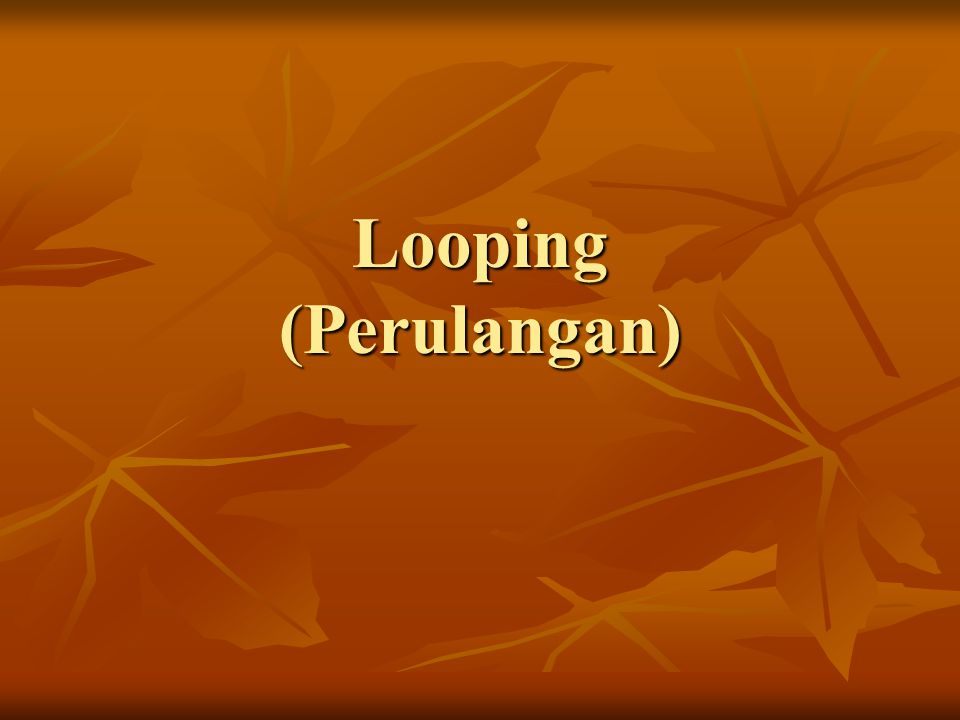 Looping (Perulangan)